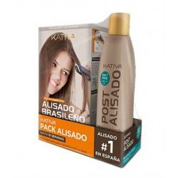 Kativa Keratin & Argan Oil Kit Brazilian Straightening + Shampoo Post- Smoothing