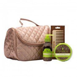 Macadamia Natural Oil Pack Quilted Satin Bag Promo