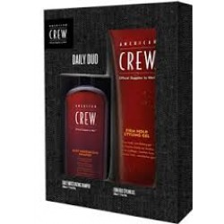 American Crew Pack Daily Duo Shampoo+ Firm Hold Gel
